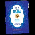 Cartão de Natal - Laço Dourado