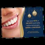 Cartão de Natal - Sorriso Curvas