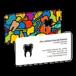 Cartão de Visita Dente Color - Pop Art