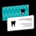 Cartão de Visita Dente Color - Quadriculado