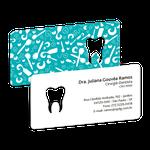 Cartão de Visita Dente Color - Turquesa Textura Dental
