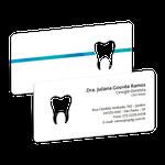 Cartão de Visita Dente Color - Dente Faixa Azul