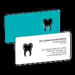 Cartão de Visita Dente Color - Turquesa