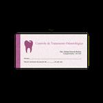 Carnê Controle de Tratamento Odontológico - Capa Roxo