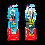 Escova Dental Infantil Batman/Mulher Maravilha 6+ Pack Duplo