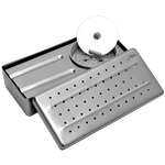 Estojo Dias Perfurado Inox p/ Implante - 26 x 12 x 06cm