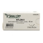 Fio de Sutura Nylon 0 CTI 3/8 - Ag. 2,0 cm Triangular