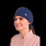 Gorro Bandana Feminino Veneto - Azul Marinho
