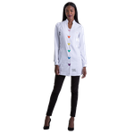 Jaleco Feminino Fashion Button - Branco
