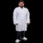 Jaleco Masculino Plus Size Unik - Branco