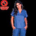 Pijama Cirúrgico Feminino Paris Indigo