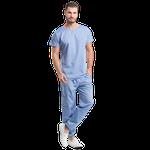 Pijama Cirúrgico Masculino Urban - Azul