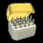 Broqueiro Acrílico Autoclavável p/ Alta Rotação 15 Furos