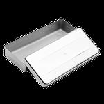 Estojo Millenium Liso Inox - 18 x 08 x 03cm