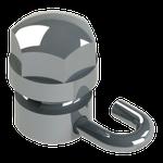 Gurin - Slot Retangular Aberto c/ Gancho Esquerdo