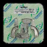 Moldeira Inox Parcial Perfurada - 4 Unidades Sortida