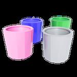 Pote Dappen Plástico Color Autoclavável - Sortido