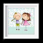 Quadro Decorativo Menino e Menina - 7144