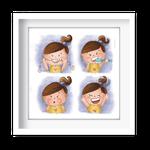 Quadro Decorativo Menininha Saúde Bucal - 7414