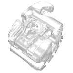 Bráquete Cerâmico Autoligado Slide H5 MBT Slot 0,022'' - Reposição