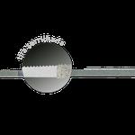 Tira de Lixa de Aço Serrilhada c/ Óxido de Alumínio - 2,5mm