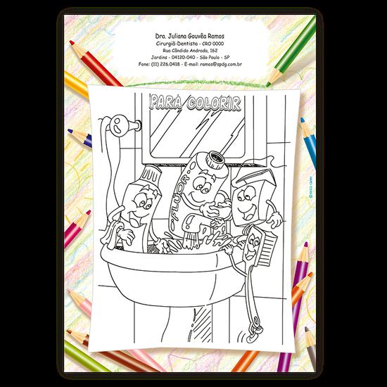 Atividades p/ a Criança - Para Colorir Escovação