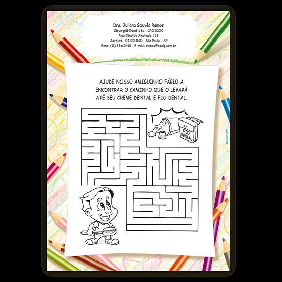 Atividades p/ a Criança - Labirinto Saúde Bucal