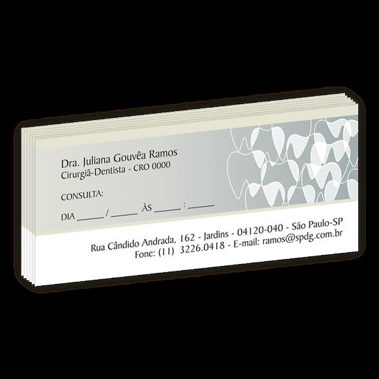 Bloco Próxima Consulta Linha Slim - Dentes Sobrepostos