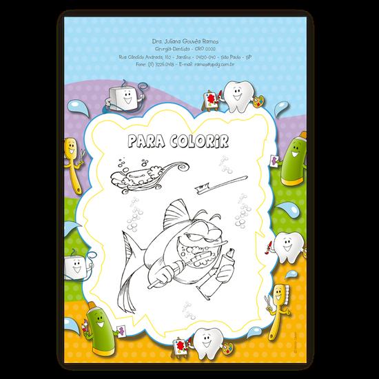 Atividades p/ a Criança - Para Colorir Tubarão