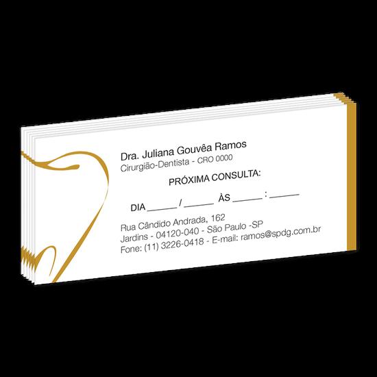 Bloco Próxima Consulta Linha Slim - Dente Gold