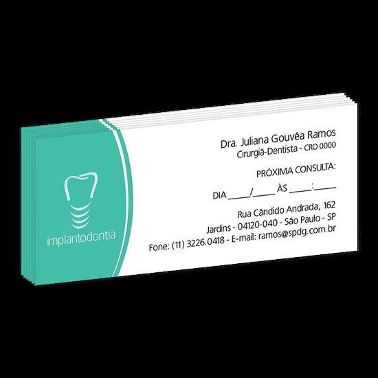 Bloco Próxima Consulta Linha Slim - Dente Estilizado Implanto