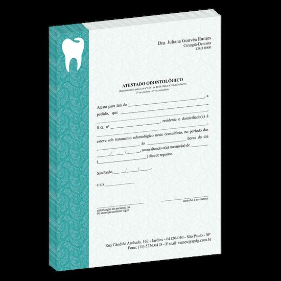 Atestado Linha Class - Arabescos Dental Verde