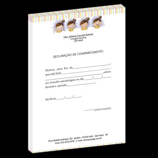 Declaração de Comparecimento Linha Class