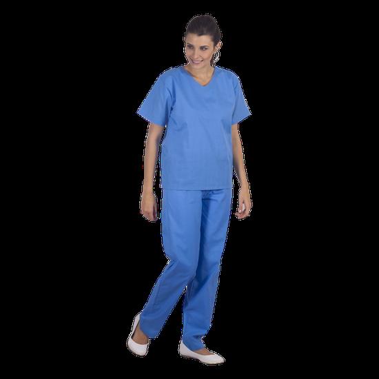 Pijama Cirúrgico Unissex - M - Azul Hortência