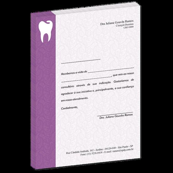 Carta de Comunicação - Agradecimento Indicação Colega - Class Roxo