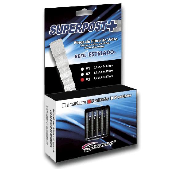 Pino de Fibra de Vidro Superpost+ Estriado Refil - 5 Pinos - Nº 3