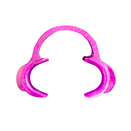 Afastador Labial Expandex Adulto Autoclavável C/1 - Lilás c/ Glitter