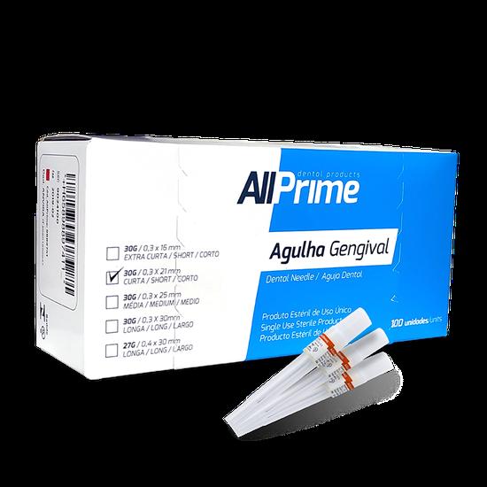 Agulha Gengival AllPrime 30g Curta 0,3 x 21mm