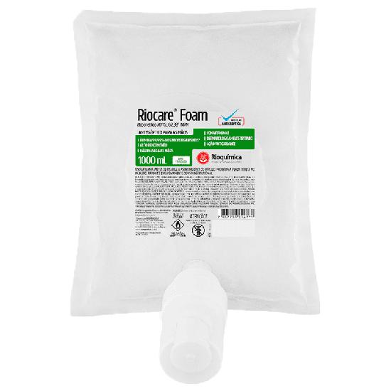 Álcool Gel 70% Antisséptico Riocare Refil 1l