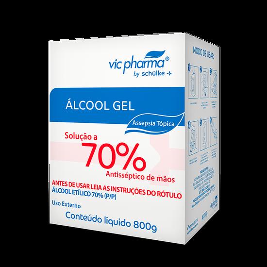 Álcool Gel 70% Refil 800 ml