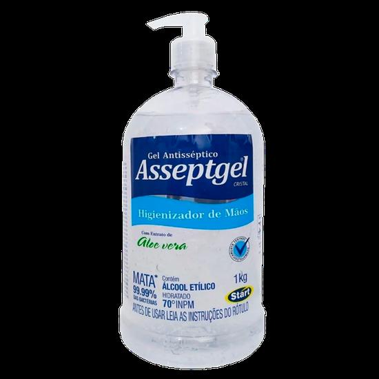 Álcool Gel Asseptgel 70% Cristal 1kg