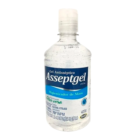 Álcool Gel Asseptgel 70% Cristal 420g