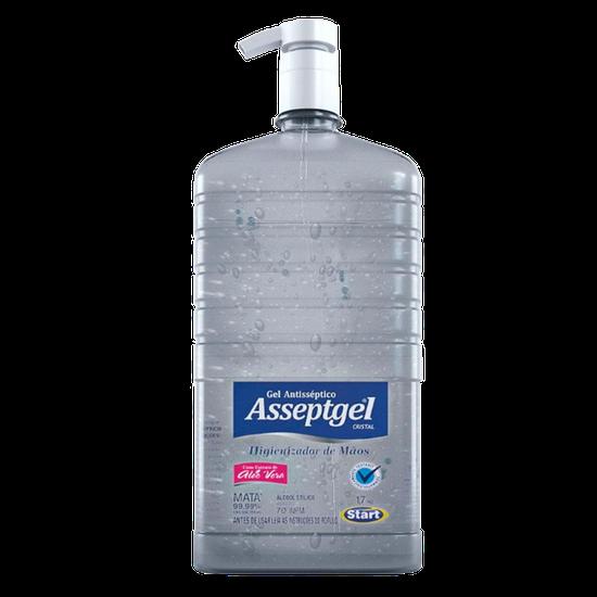 Álcool Gel Asseptgel 70% Cristal com Válvula 1,7kg