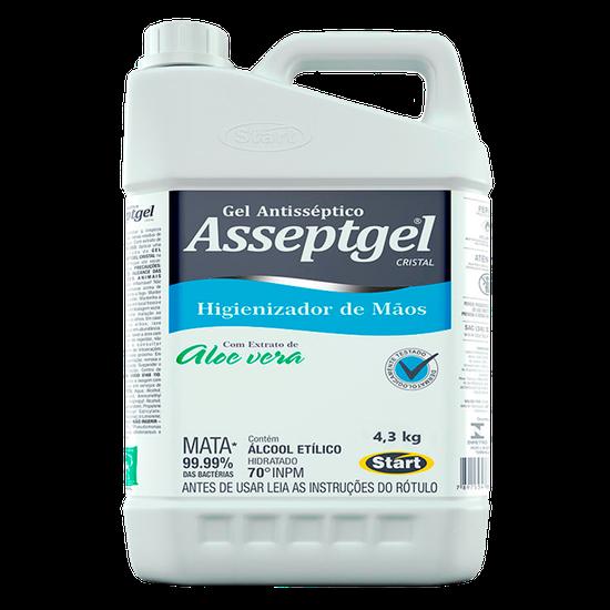 Álcool Gel Asseptgel Cristal Aloe Vera 70% - 4,3kg