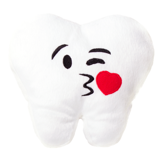 Almofada Dentemoji - Beijo - 25 x 25cm