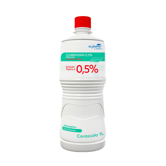 Antisséptico Gliconato de Clorexidina  0,5% Alcoólica 1l