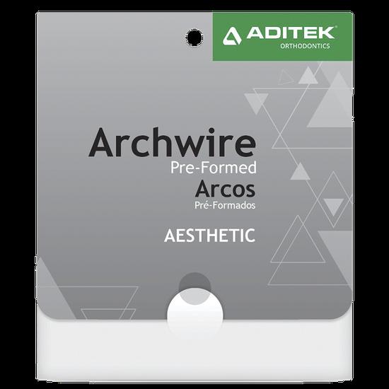Arco de Aço Estético Off White Retangular 0,017''X0,025'' Inferior - 01 Unidade