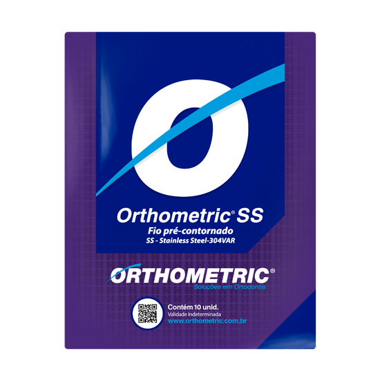 Arco Orthometric SS - Stainless Retangular - Standard Form - 0,019''x0,025'' Superior