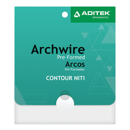 Arco Niti Contour Termo-Ativado Retangular 0,014''X0,025'' Universal - 10 Unidades