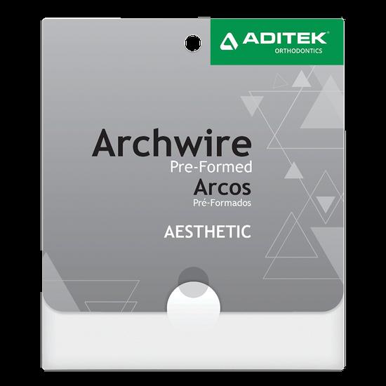 Arco Niti Estético Branco Retangular 0,017''X0,025'' Superior - 01 Unidade